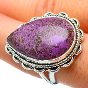 Large-Stichtite-925-Sterling-Silver-Ring-Size-9-Ana-Co-Jewelry-R32708