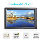 "FEELWORLD Full HD 7"" IPS Monitor On Camera 1080P HDMI Sunshade for Video 5D III"