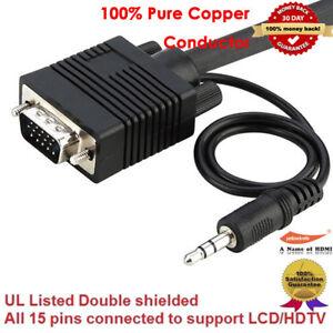 Premium-Moniteur-VGA-Cable-Avec-3-5-Mm-Stereo-Audio-6-ft-environ-1-83-m-10-ft-environ-3-05-m-15-FT