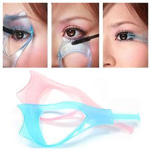 3-in1-Blue-Eyelash-Makeup-Mascara-Shield-Guard-Curler-Comb-Guide-Applicator-Tool