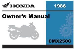 honda 1986 rebel cmx250c owner manual 86 ebay rh ebay com 2009 Honda Rebel 450 1986 honda rebel 250 owners manual