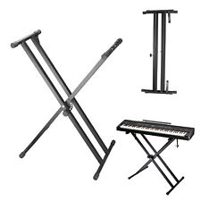 Keyboardständer verstellbar Piano einfach Keyboardstativ X-Form schwarz