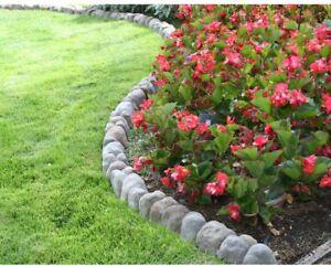 multi colored rock lawn garden stone edging landscape border paver
