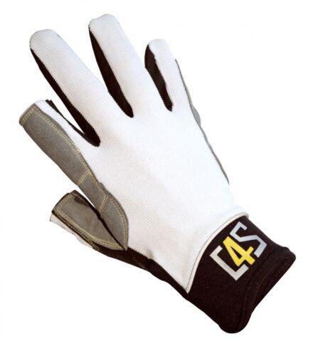 crazy4sailing Amara Kunstleder Segelhandschuhe Offshore 2 Finger-frei Segeln Bootsport Handschuhe