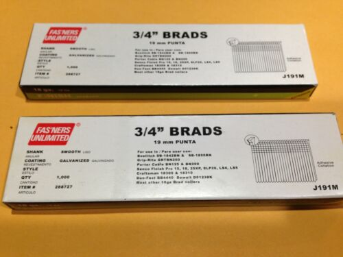 "Finish Nails 18 Ga Galvanized 3//4/"" Brad Brads Nails QTY 2,000"