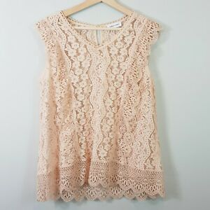 TABLE-EIGHT-Womens-Lace-Blouse-Top-Size-AU-14-or-US-10