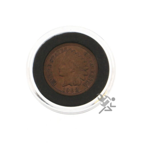 25 Pack US Cent Air-Tite Holders 19mm Black Ring Penny Coin Capsules