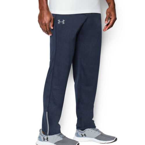 Under Armour UA Mens Navy Gym Fitness Loose Training Bottoms Tech Pants XS