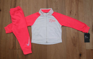 sneakers crazy price best cheap Details about Nike Baby Girl Jogging Set ~ Tracksuit ~ Neon Pink & White ~