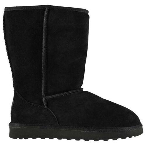 C9 C10 SoulCal Tahoe Snug Child Girls Leather Boots winter Shoes Black UK C7