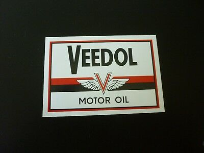 Brillante Età Adesivi Sticker Veedol Motoroil-mostra Il Titolo Originale Tecniche Moderne