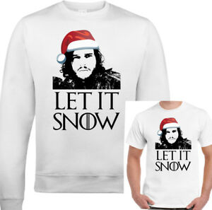 Xmas-Let-It-Snow-Mens-Funny-Game-Of-Thrones-Sweatshirt-T-Shirt-Ugly-Jumper-Xmas