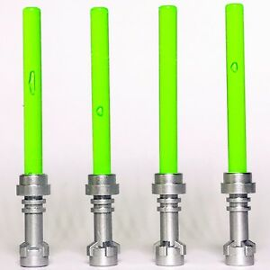 4-x-STAR-WARS-lego-TRANSLUCENT-BRIGHT-GREEN-LIGHTSABERS-jedi-sith-WEAPONS-new