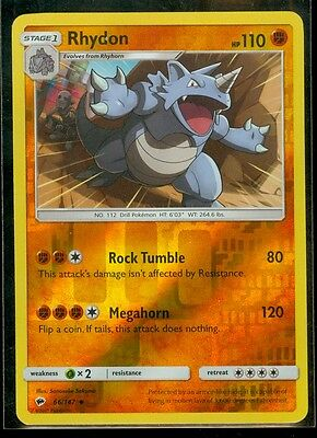 Rhydon Reverse Holo 66//147 Burning Shadows M//NM Pokemon TCG Card