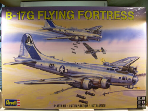 WWII US AIR FORCE B-17 FLYING FORTRESS REVELL 1:48 SCALE PLASTIC MODEL KIT