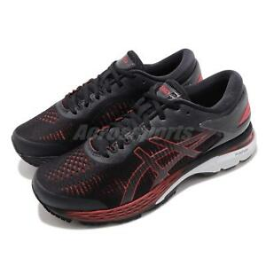 Details about Asics Gel Kayano 25 2E Wide Black Classic Red Men Running  Shoes 1011A029-004