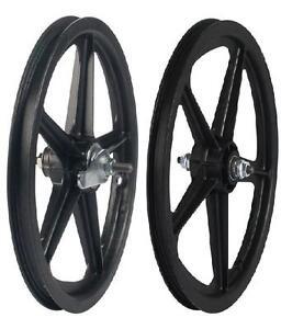 16-034-Skyway-Tuff-Wheel-2-Mag-WHEEL-SET-16-034-Coaster-Brake-Mag-BMX-Wheels-Black-set