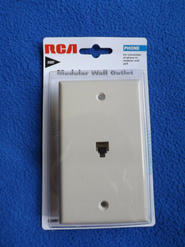 RCA TP247 Phone Modular Wall Jack Outlet Ivory