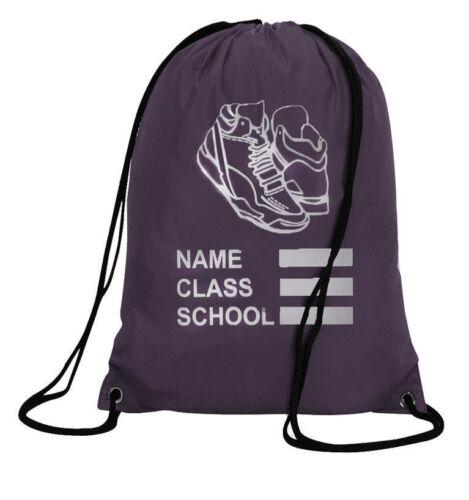 Printed PE Bag Drawstring Backpack Waterproof Gym Swim School Sports Bag