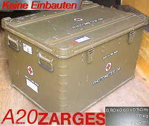 bundeswehr zarges a20 beh lter alukiste alu box transport. Black Bedroom Furniture Sets. Home Design Ideas
