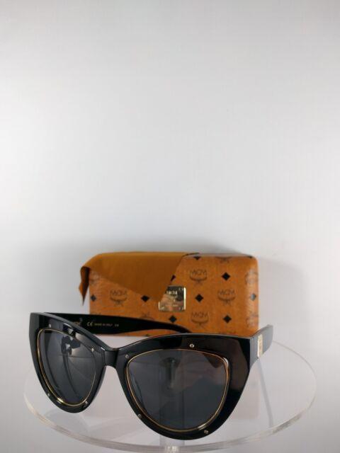 f185af0133 Authentic MCM Sunglasses Mcm603 s 001 53mm Black Gold Frame for sale ...
