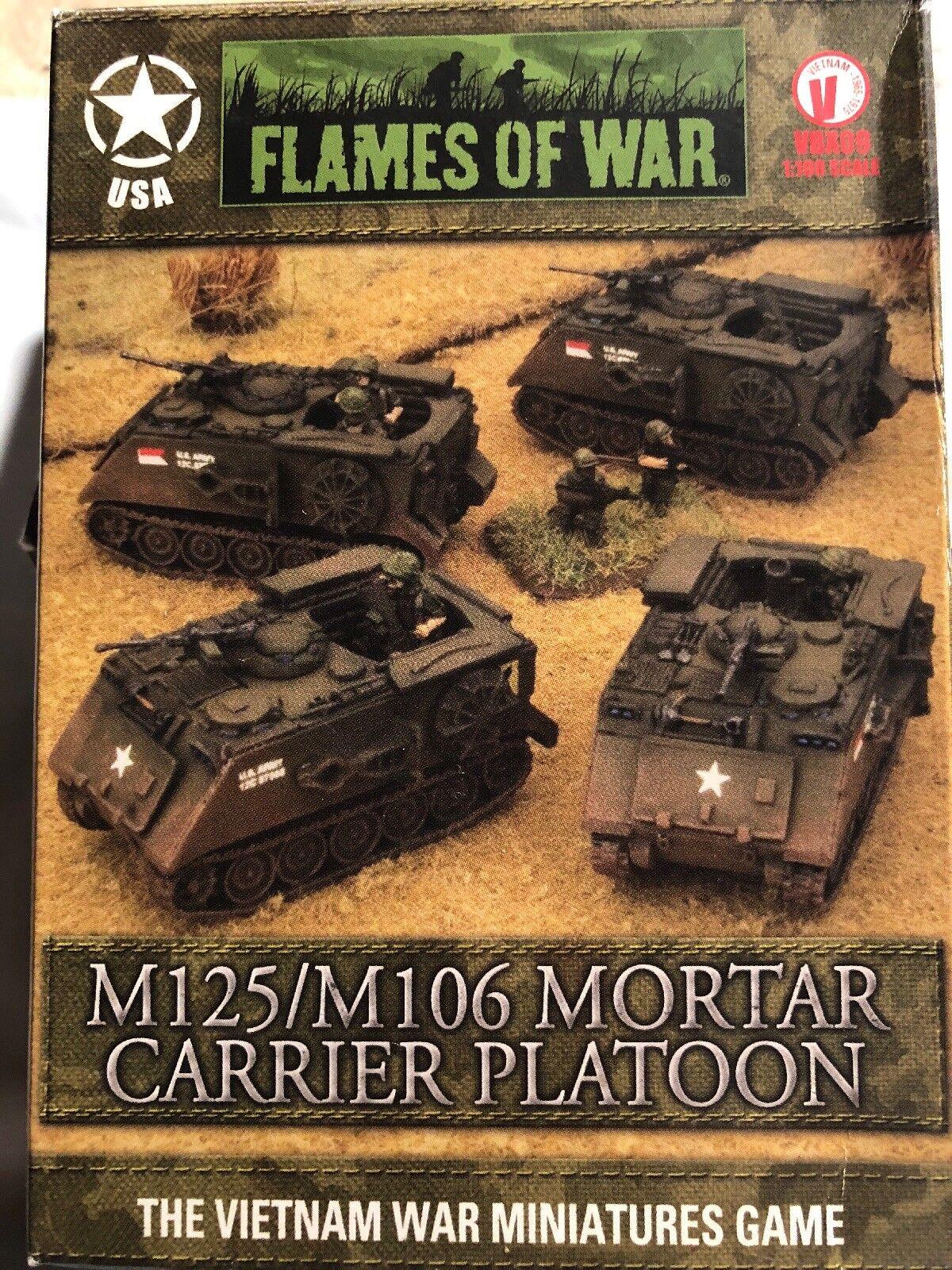 FLAMES OF OF OF WAR VBX09 1 100 M125 M106 MORTAR autoRIER PLATOON d3532f