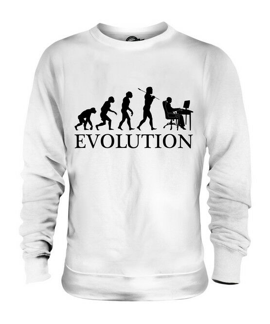 OFFICE WORKER (FEMALE) EVOLUTION OF MAN UNISEX SWEATER  Herren Damenschuhe LADIES GIFT