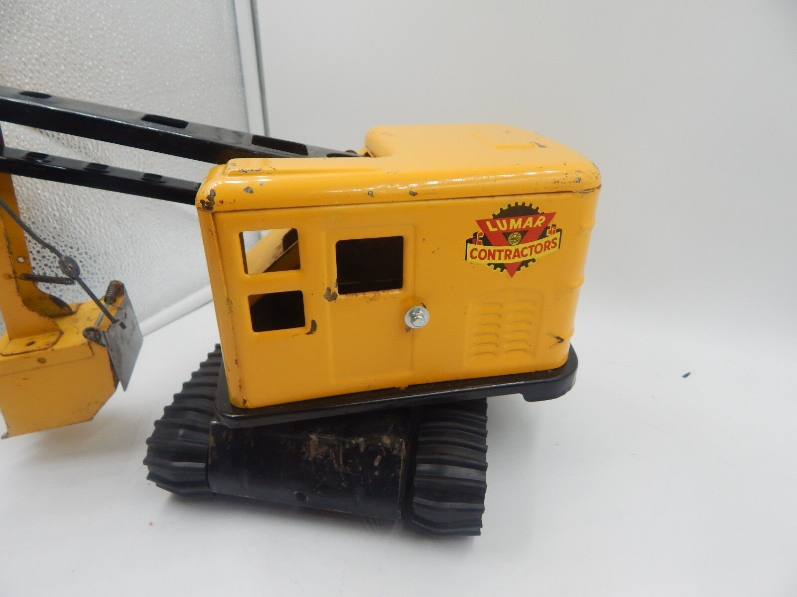 Marx Lumar Power Shovel Steam Shovel Shovel Shovel Vintage 1940s Pressed Steel Toy 65138b