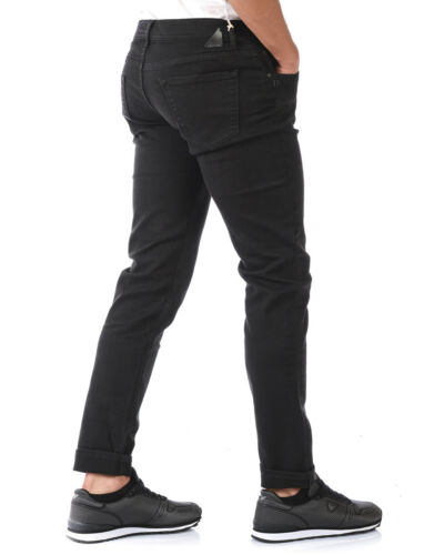 Jeans Daniele Alessandrini Jeans Cotone MADE IN ITALY Uomo Nero PJ4610L7803735 1