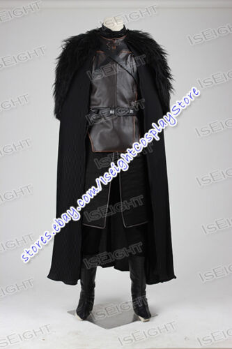 Game of Thrones Cosplay Jon Snow Costume Halloween Uniform Full Set Outfit Cape
