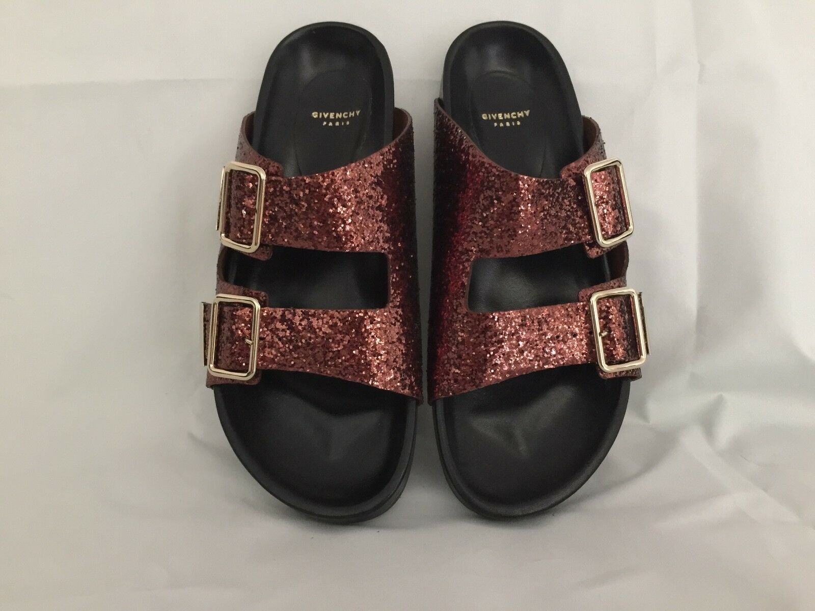Givenchy Givenchy Givenchy Women's Bronze Swiss Glitter Double-buckle Sandal 38 b8b58e