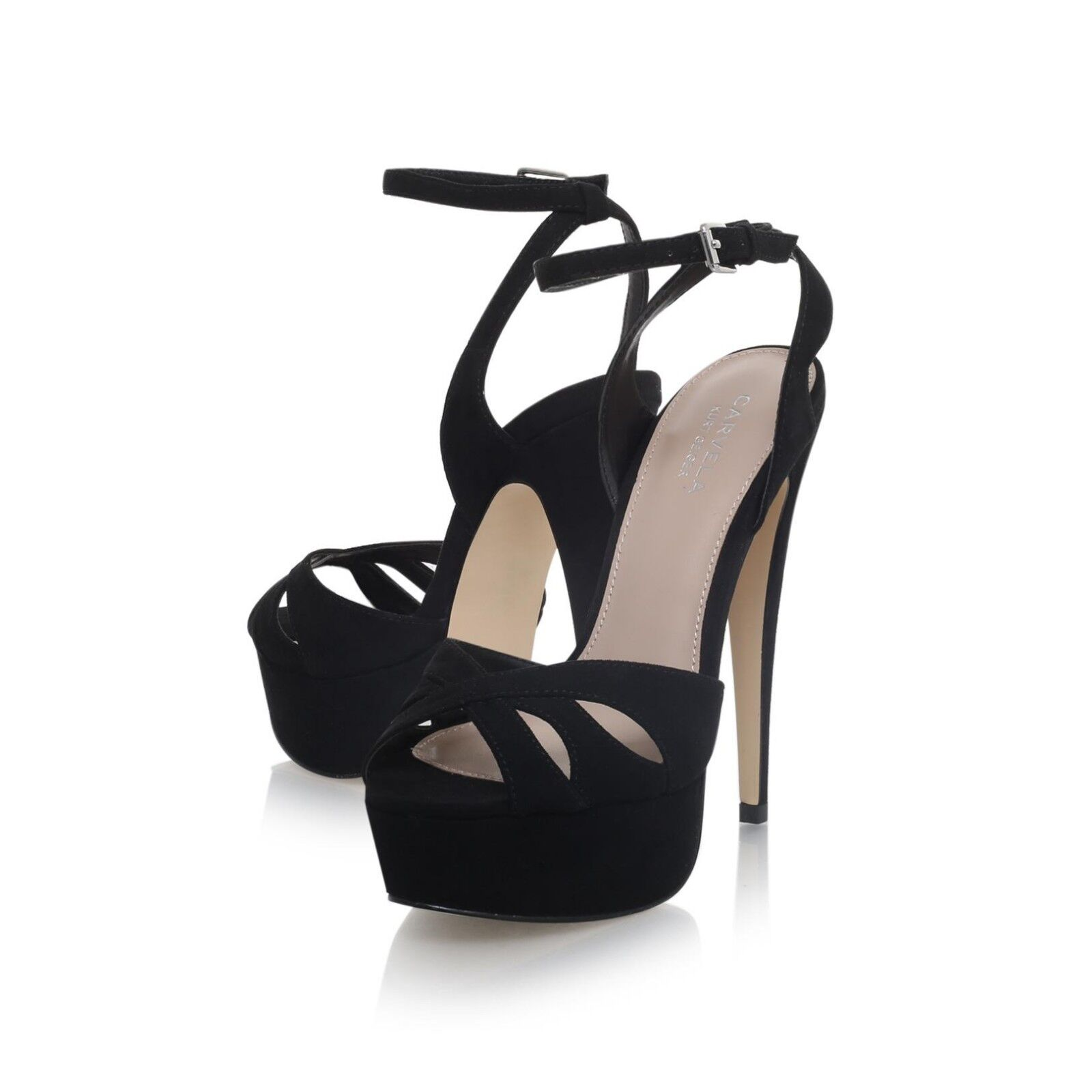 Carvela Black Layer High Heel Sandals rrp UK 3 EU 36 CH10 60