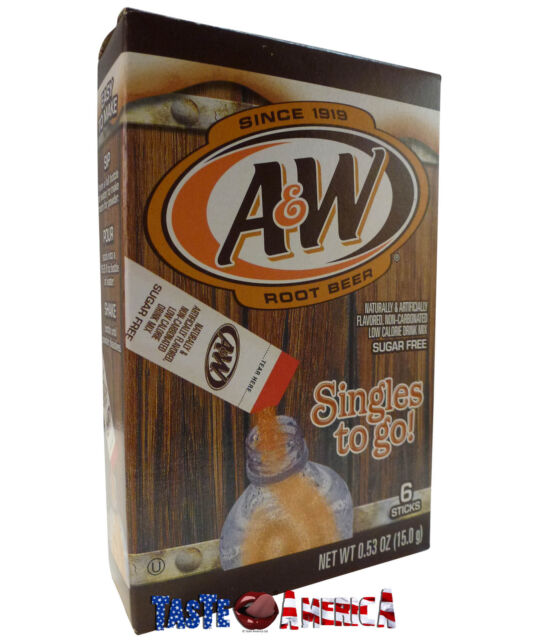 A&W Root Beer Drink Mix 6 x Singles To Go Sachets 15g