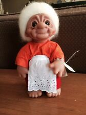 """Vintage Norfin Grandma Troll Doll Style 7001 with original tags 13"""" tall"""
