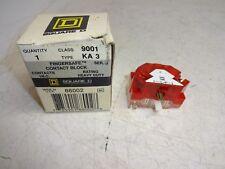 SQUARE D 9001KS62BH21 ELECTRIC CONTACT BLOCKS KA3 /& KA2 RED /& GREEN NEW