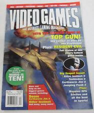 Video Games Magazine Top Gun & Resident Evil April 1996 081414R