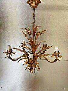 Lustre-5-branches-Dore-Epi-De-Ble-Vintage-chic-annees-70-039-Gout-maison-Bagues