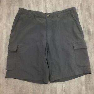 Men-039-s-COLUMBIA-Dark-Gray-Cargo-Casual-Hiking-Walking-Shorts-Sz-36-Adjustable