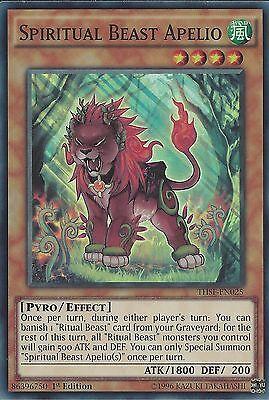 YU-GI-OH: SPIRITUAL BEAST APELIO - SUPER RARE - THSF-EN025 - 1ST EDITION