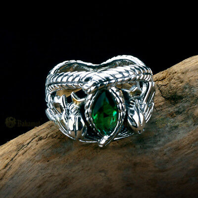 Men Lotr Aragorn S Ring Of Barahir Artificial Emerald 925