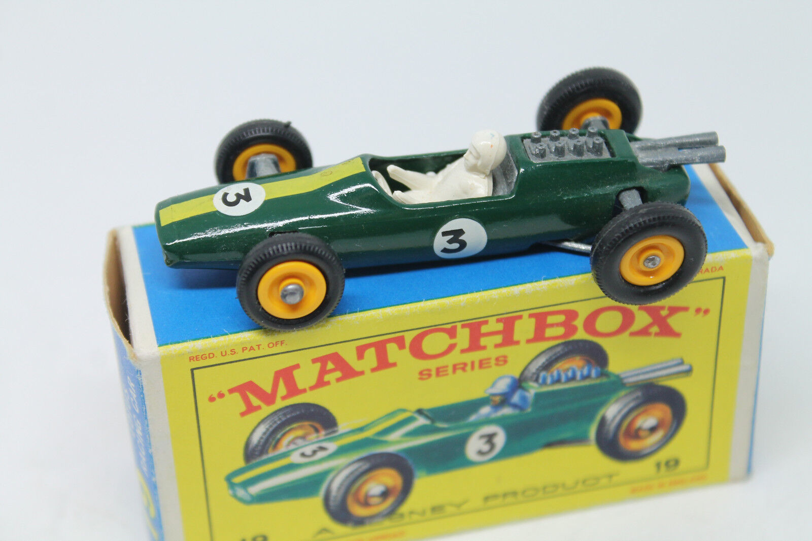 MATCHBOX SERIES NO. 19  LOTUS RACING CAR  OVP  LESNEY