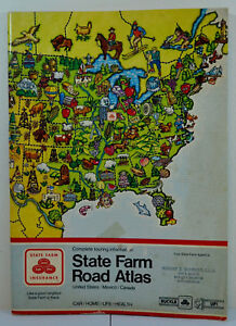 Details about State Farm Rand McNally Road Atlas Map US and Canada Vintage  1984 15 x 11\