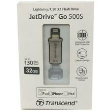 Transcend JetDrive Go 500 Mobile Storage for iOS Devices 32GB Gold Flash Drive