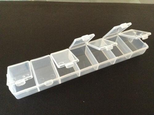 Pastillero De plástico de bisutería de almacenamiento 7 Compartimientos-Artesanías