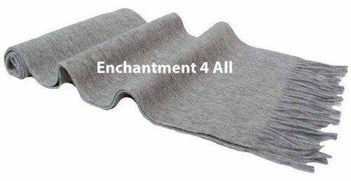 New Classic 100/% 2-Ply Cashmere Scarf Muffler Lt Gray
