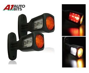 2-Recovery-Side-Marker-Outline-Led-Lights-Lamps-12-24-Volt-Trailer-Truck-Lorry