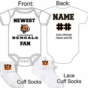 Personalized newest cincinnati bengals fan baby gerber onesie image is loading personalized newest cincinnati bengals fan baby gerber onesie negle Image collections