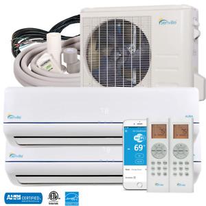 28000 BTU Dual Zone Ductless Mini Split Air Conditioner and Heat Pump 23 SEER