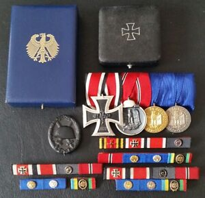 German Germany Army 40 Year Long Service Oakleaf Cluster for 25 Year medal//cross