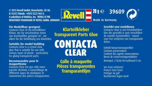 Pinselkleber 100g=14,95€ Plastik-Kleber Revell 39609 Contacta Clear 20g